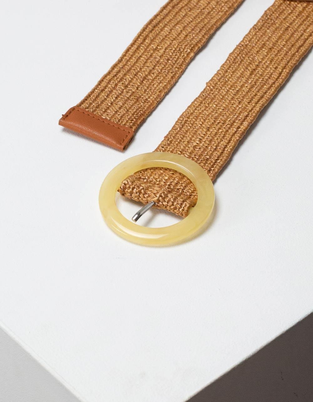 Εικόνα από Γυναικείες ζώνες πλεκτές με στρογγυλό τοκά Πούρο