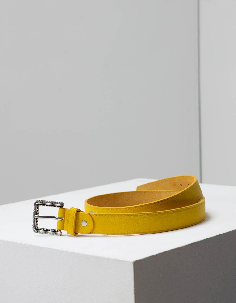Εικόνα από Γυναικείες ζώνες μονόχρωμες Κίτρινο
