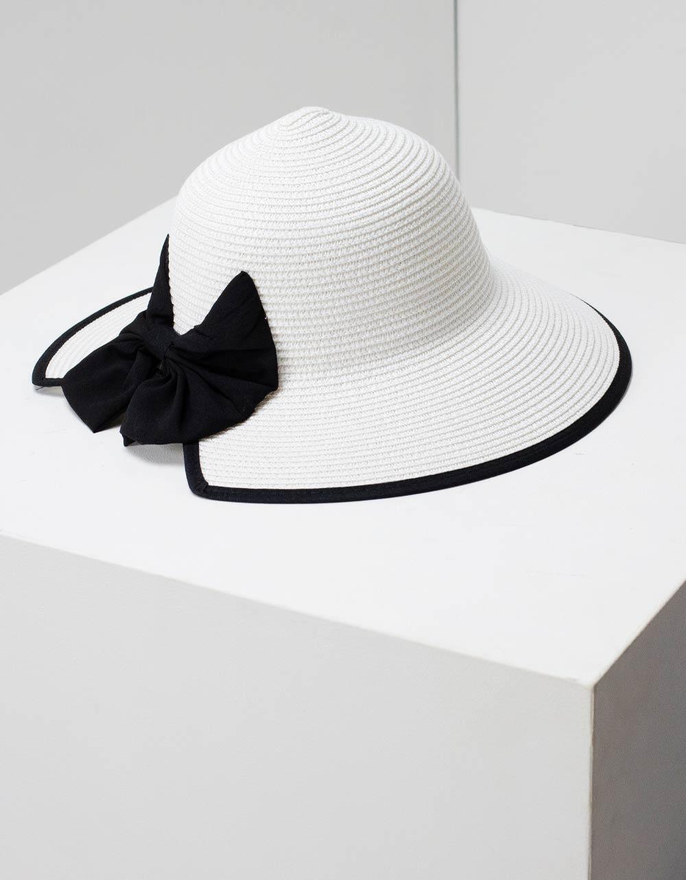 Εικόνα από Γυναικεία καπέλα με φίογκο Λευκό