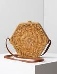 Εικόνα από Γυναικεία τσάντα ώμου Bamboo σε εξάγωνο σχήμα Φυσικό