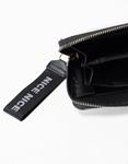 Εικόνα από Γυναικεία πορτοφόλια με σχέδιο και ρίγες Σιέλ/Λευκό