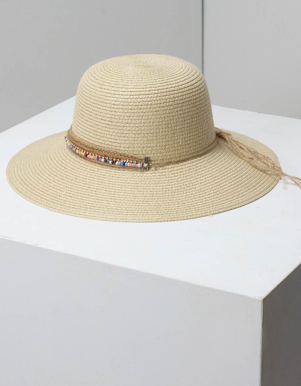 Εικόνα από Γυναικεία καπέλα με διακοσμητική φάσα Μπεζ