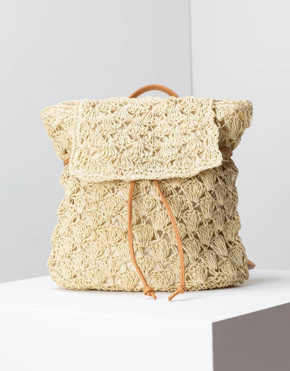 Εικόνα από Γυναικεία σακίδια πλάτης ψάθινα Μπεζ