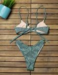 Εικόνα από Γυναικεία μαγιό σετ μπικίνι lurex Πράσινο