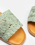 Εικόνα από Γυναικεία σανδάλια με ψάθινο σχέδιο στην φάσα Πράσινο