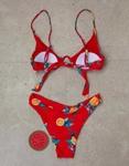 Εικόνα από Γυναικεία μαγιό σετ μπικίνι με σχέδια Κόκκινο