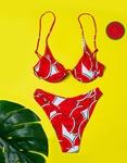 Εικόνα από Γυναικεία μαγιό σετ μπικίνι με σχέδια Κόκκινο/Λευκό