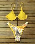 Εικόνα από Γυναικεία μαγιό σετ μπικίνι με σχέδια Κίτρινο