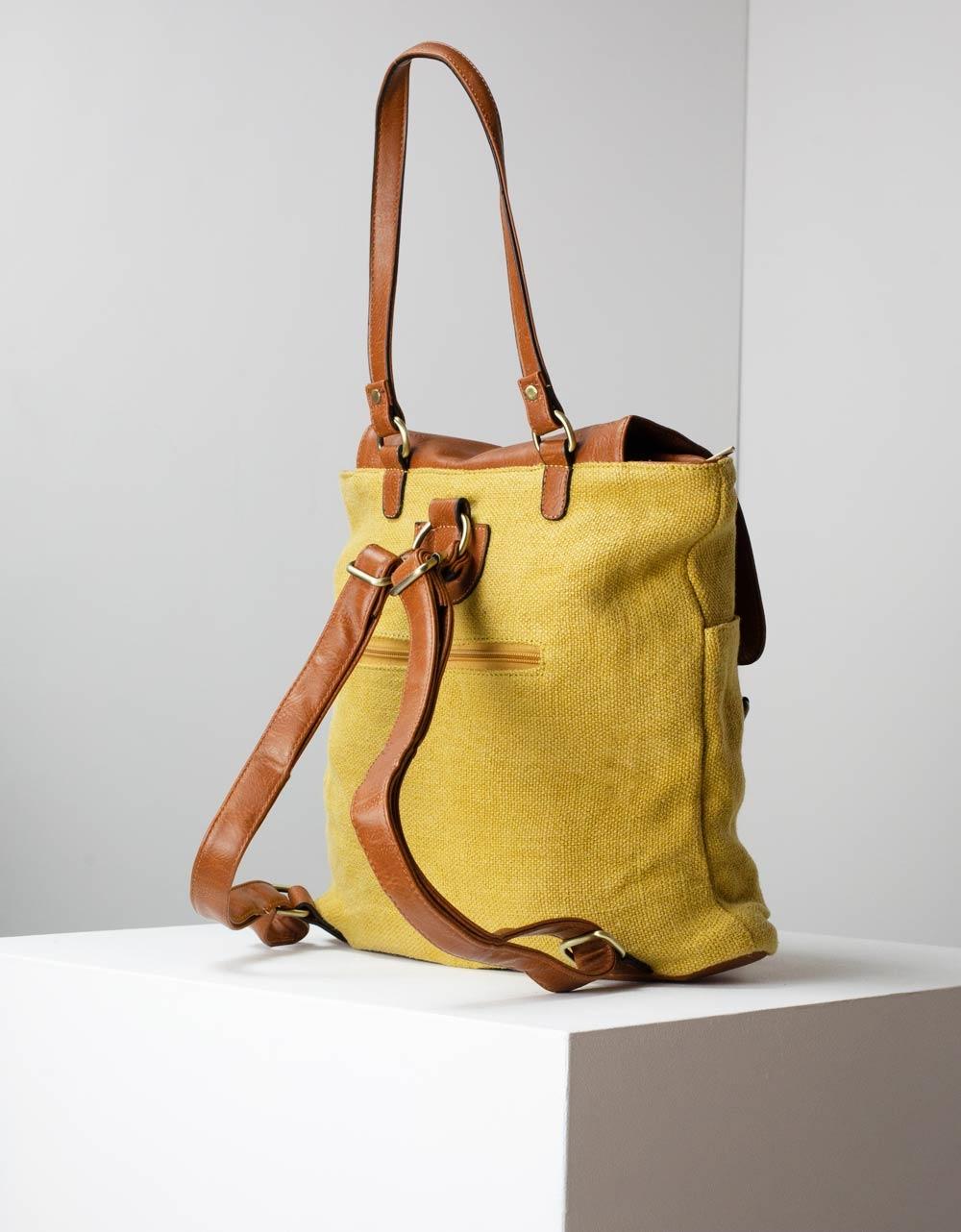 Εικόνα από Γυναικεία σακίδια πλάτης με διχρωμία Κίτρινο