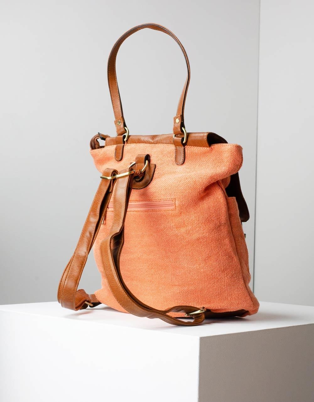 Εικόνα από Γυναικεία σακίδια πλάτης με διχρωμία Πορτοκαλί
