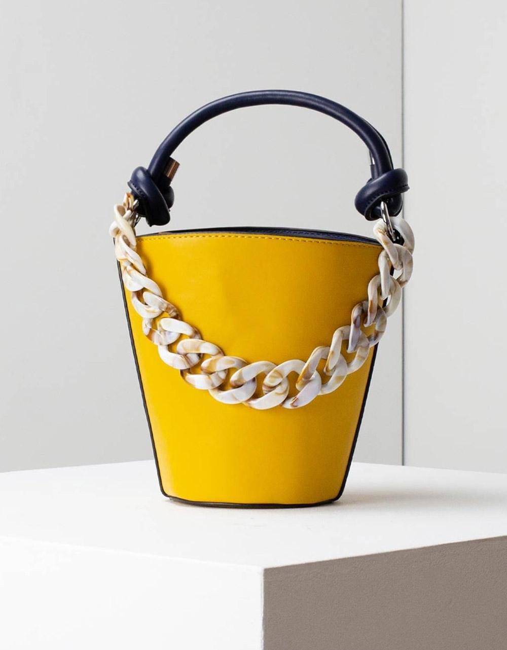 Εικόνα από Γυναικείες τσάντες ώμου με λεπτομέρειες Κίτρινο