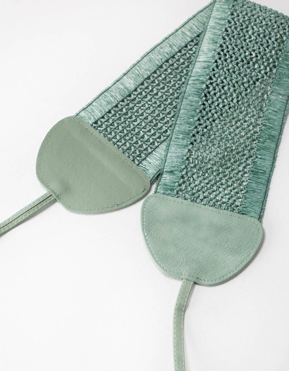 Εικόνα από Γυναικείες ζώνες με δέσιμο με λουράκια Πράσινο