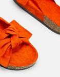 Εικόνα από Γυναικεία σανδάλια με φιόγκο στην φάσα Πορτοκαλί
