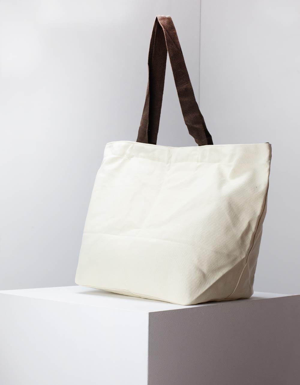 Εικόνα από Γυναικεία τσάντα ώμου μονόχρωμη Μπεζ