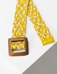 Εικόνα από Γυναικείες ζώνες με τετράγωνο τοκά Κίτρινο