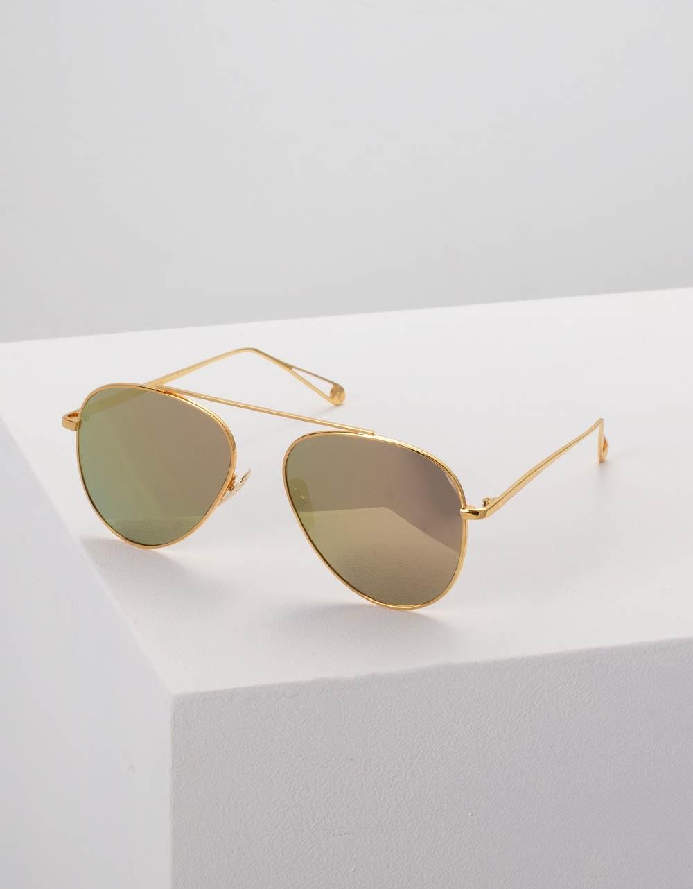 Εικόνα από Γυναικεία γυαλιά ηλίου στρογγυλά Κίτρινο