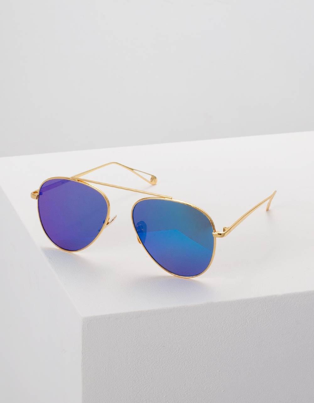 Εικόνα από Γυναικεία γυαλιά ηλίου στρογγυλά Πράσινο