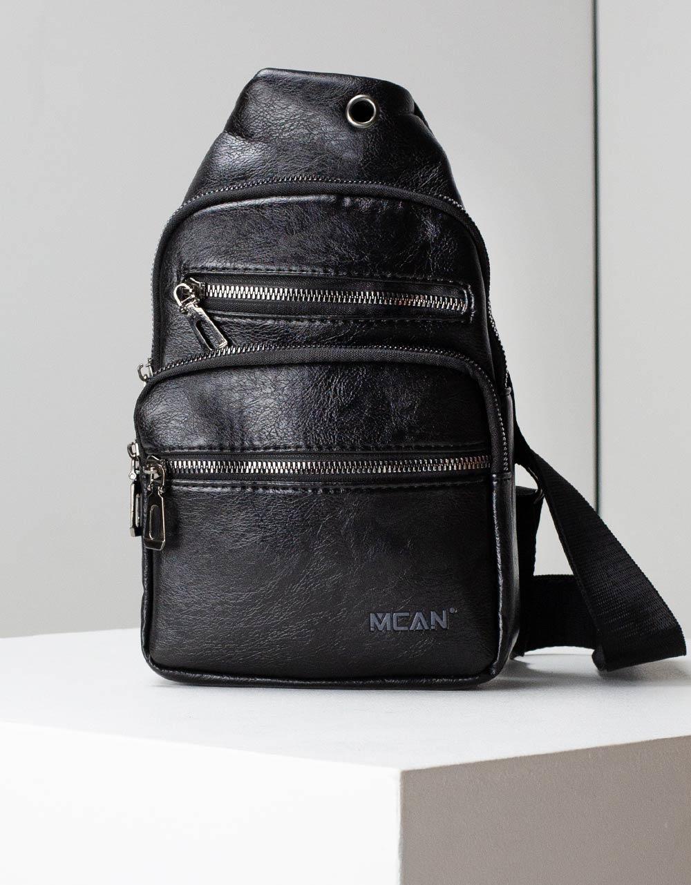 Εικόνα από Ανδρικές τσάντες ώμου χιαστί με εξωτερική θήκη Μαύρο