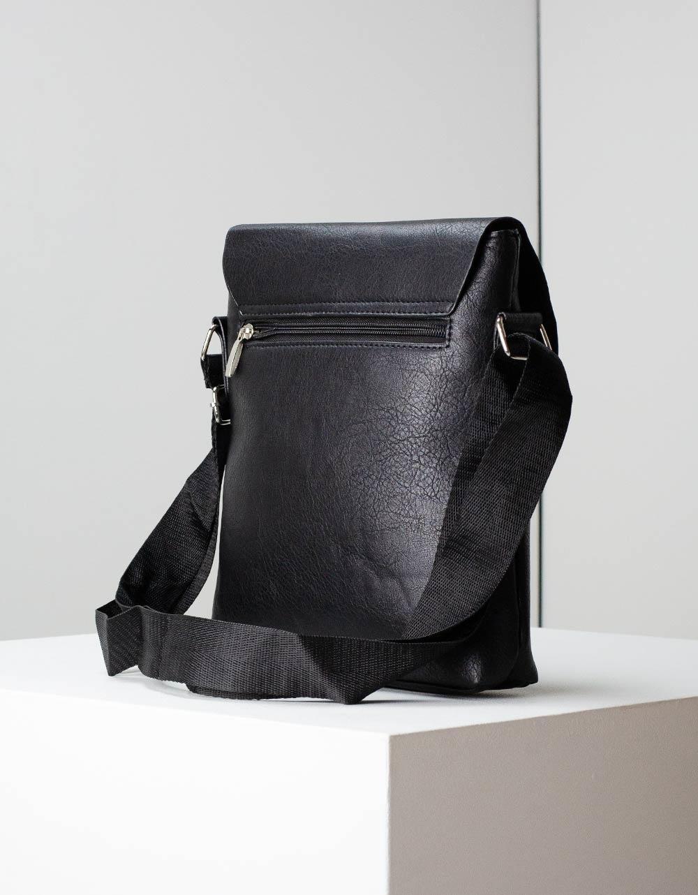 Εικόνα από Ανδρικές τσάντες ώμου με φερμουάρ Μαύρο
