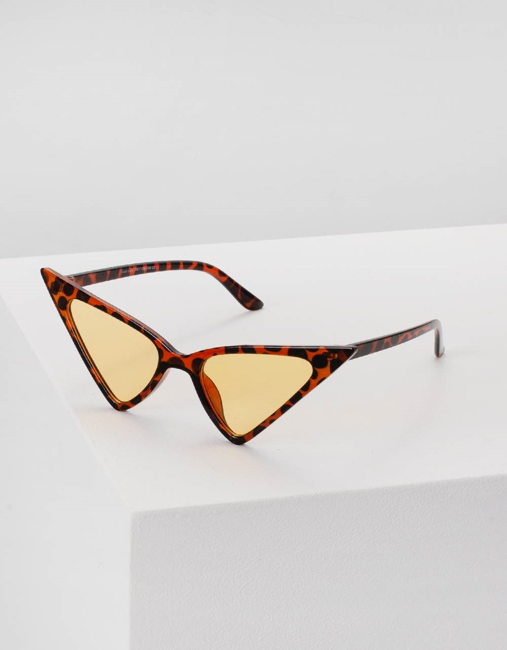 Εικόνα από Γυναικεία γυαλιά ηλίου σε σχήμα πεταλούδα Καφέ