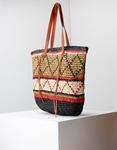 Εικόνα από Γυναικεία τσάντα ώμου με λεπτομέρειες Πούρο/Μαύρο