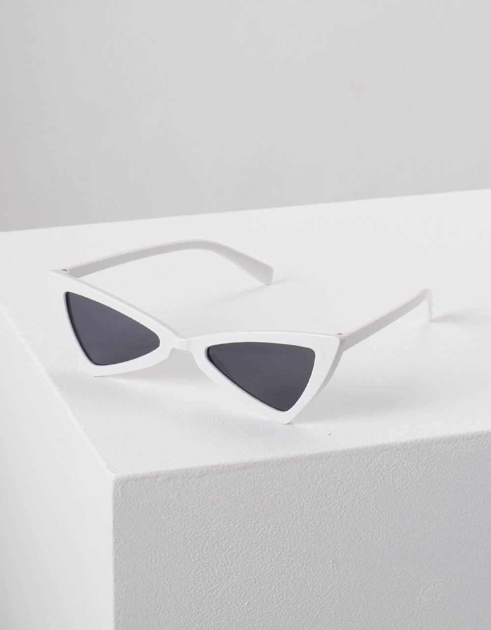 Εικόνα από Γυναικεία γυαλιά ηλίου cat eye Λευκό