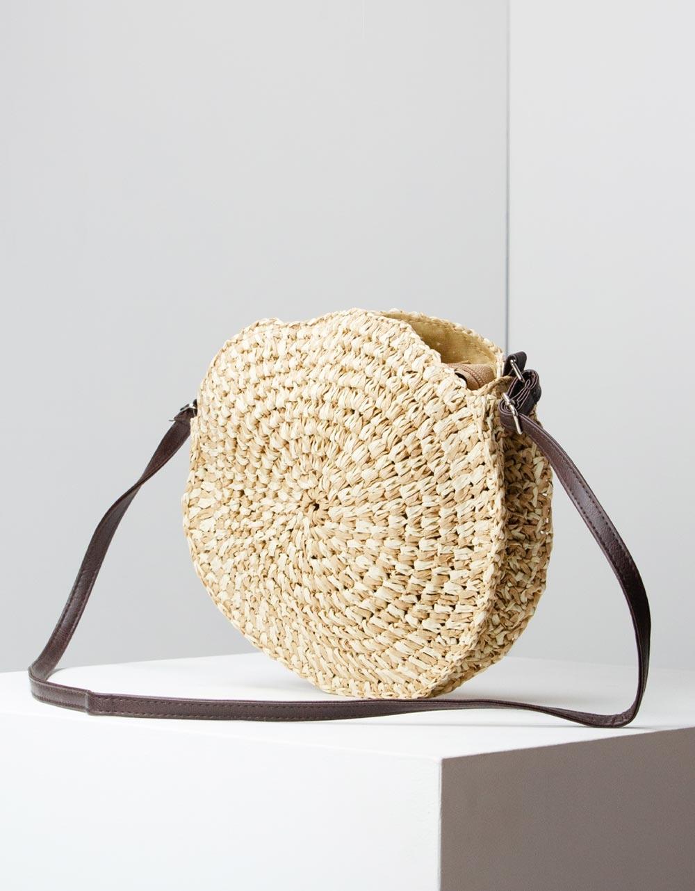 Εικόνα από Γυναικείες τσάντες ώμου ψάθινες Μπεζ
