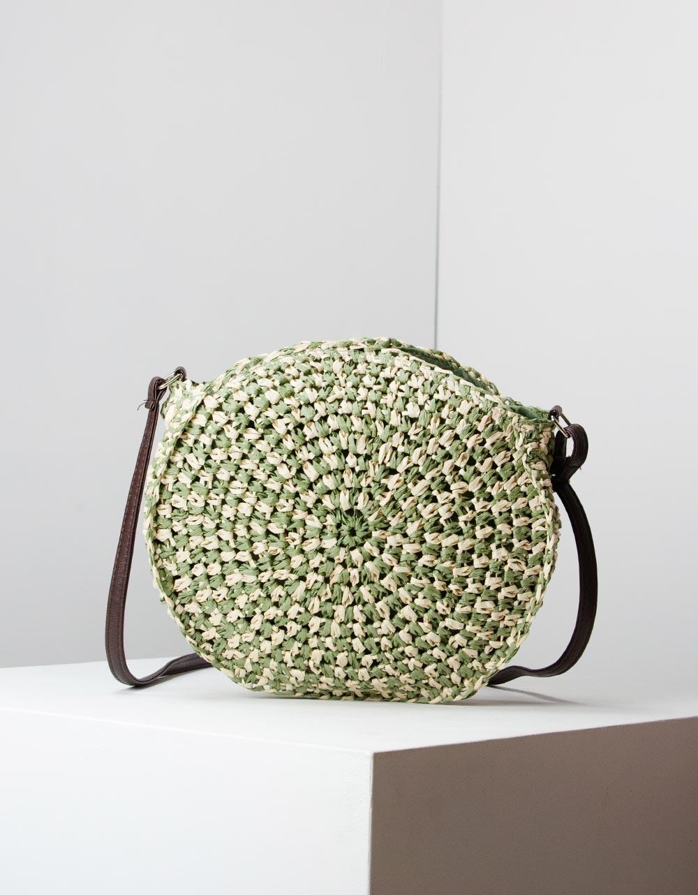 Εικόνα από Γυναικείες τσάντες ώμου ψάθινες Πράσινο