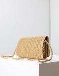 Εικόνα από Γυναικείες τσάντες ώμου ψάθινες με διακοσμητικά κοχύλια Πούρο