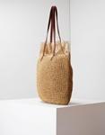 Εικόνα από Γυναικείες τσάντες ώμου ψάθινες με σχέδιο Πούρο