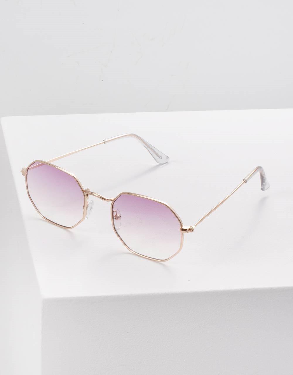 Εικόνα από Γυναικεία γυαλιά ηλίου με λεπτό σκελετό Μωβ