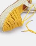 Εικόνα από Γυναικείες εσπαντρίγιες lace up με λεπτομέρειες στην φάσα Κίτρινο