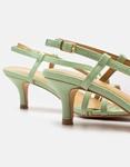 Εικόνα από Γυναικεία πέδιλα με λεπτό τακούνι και λουράκια Πράσινο