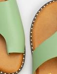 Εικόνα από Γυναικεία σανδάλια με ιδιαίτερο κόψιμο στη φάσα Πράσινο
