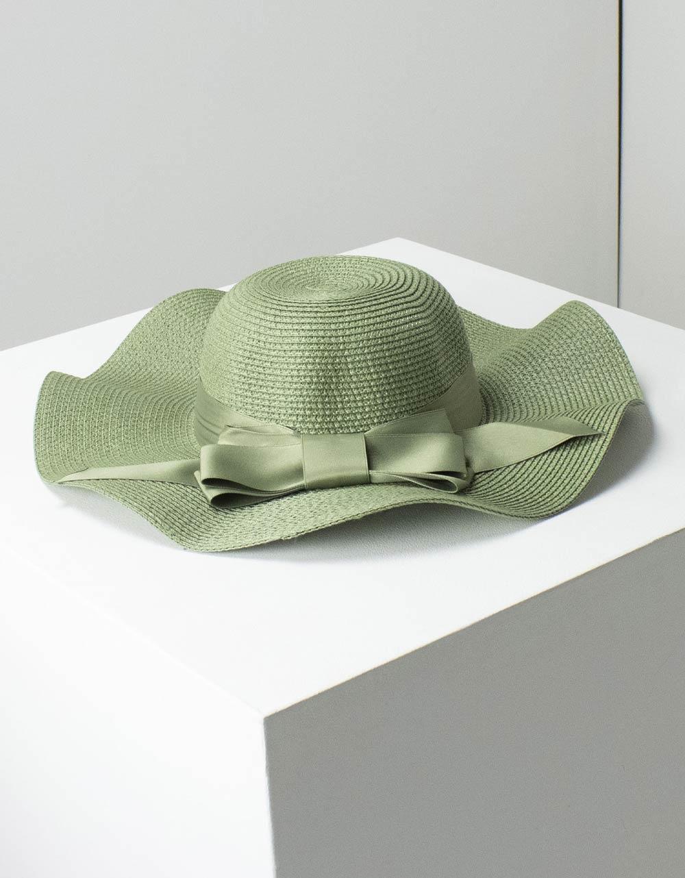 Εικόνα από Γυναικεία καπέλα με κυματιστό σχέδιο Πράσινο