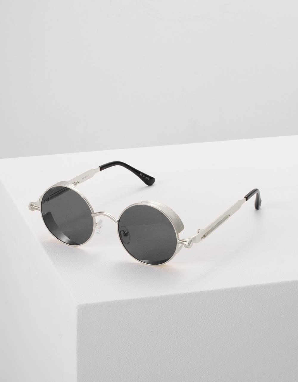 Εικόνα από Γυναικεία γυαλιά ηλίου στρογγυλά Μαύρο