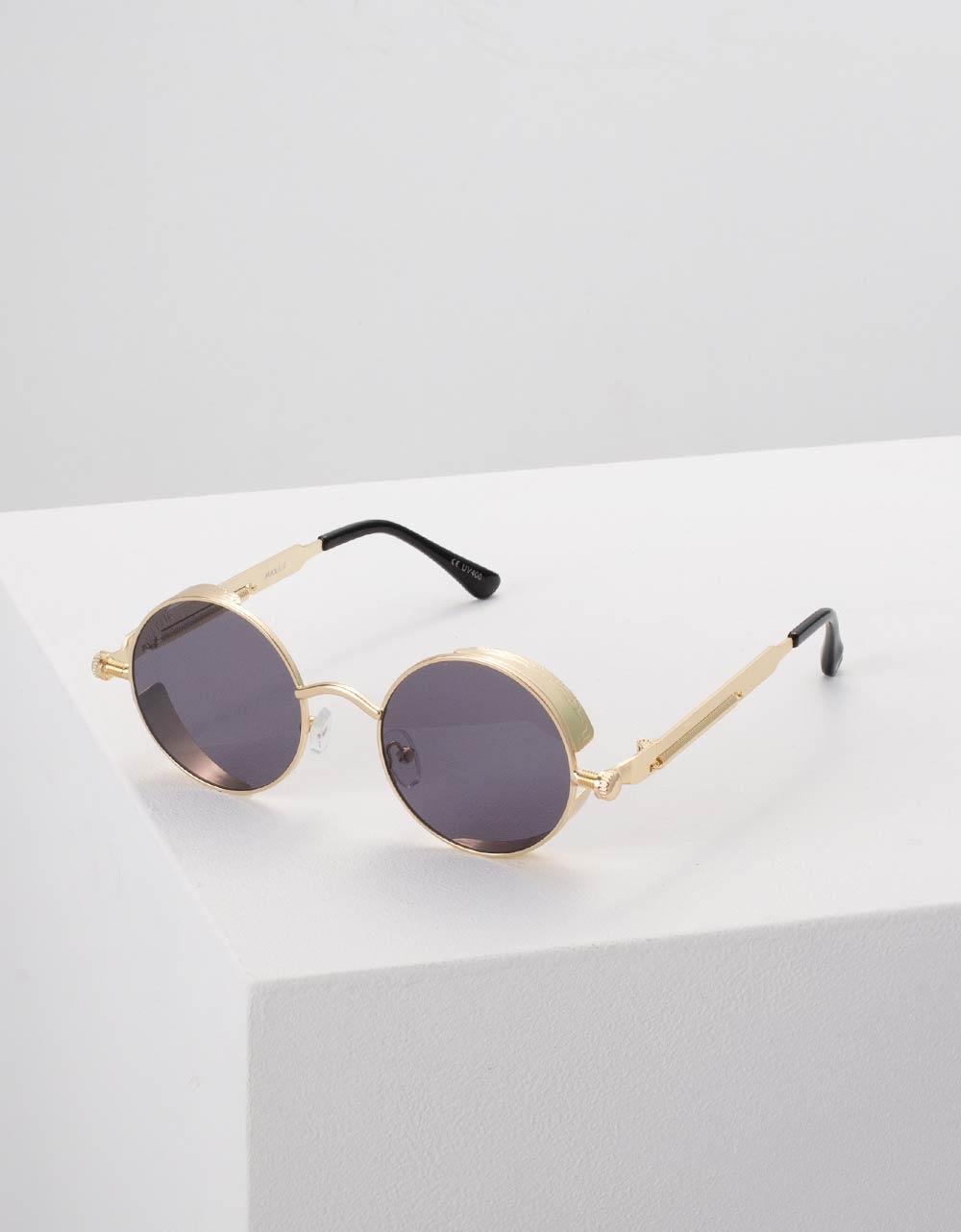 Εικόνα από Γυναικεία γυαλιά ηλίου στρογγυλά Χρυσό