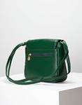 Εικόνα από Γυναικεία τσάντα ώμου με λεπτομέρειες κροκό Πράσινο
