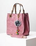 Εικόνα από Γυναικείες τσάντες χειρός με ανάγλυφα μοτίβα Ροζ