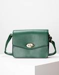Εικόνα από Γυναικεία τσάντα ώμου μονόχρωμη Πράσινο