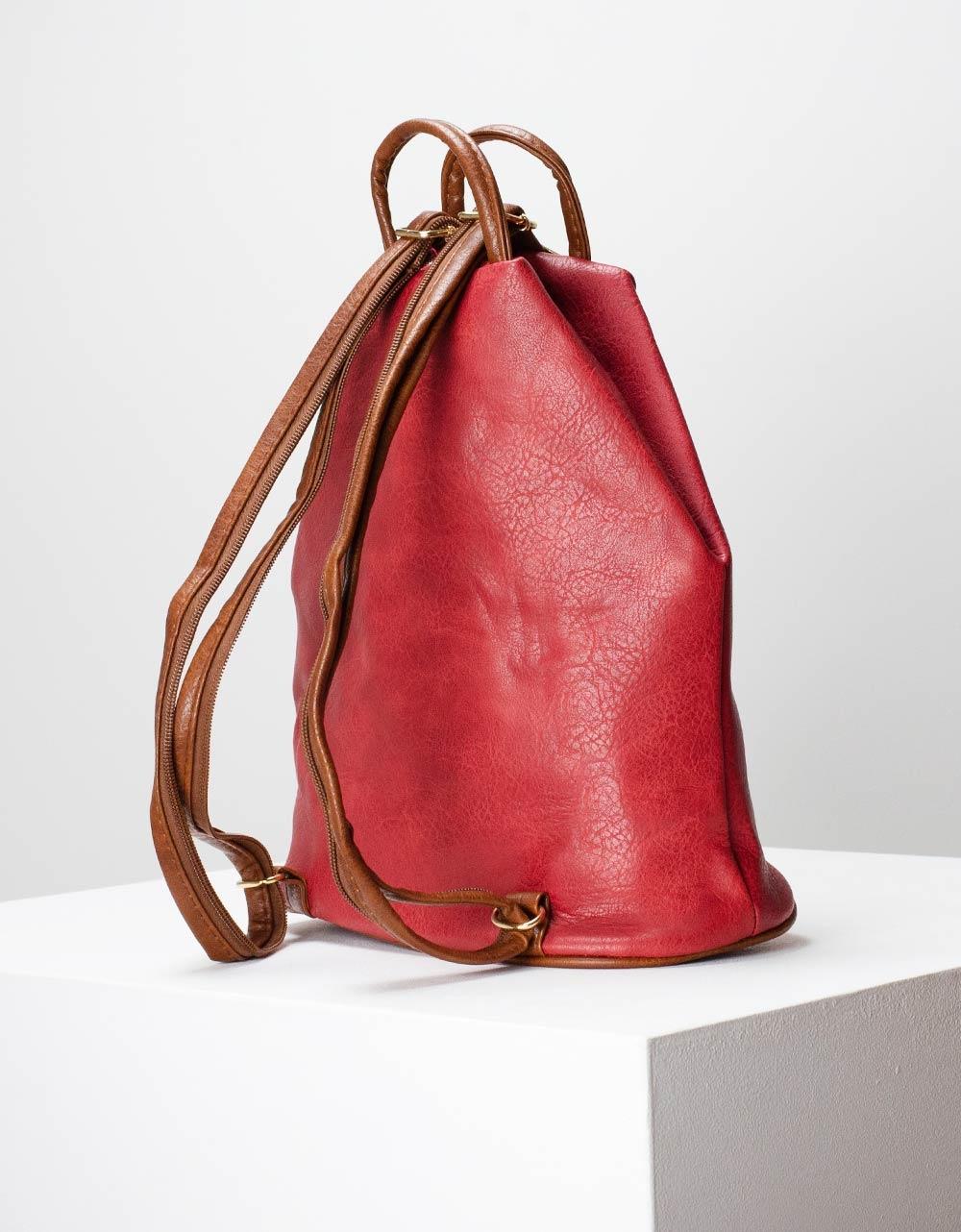 Εικόνα από Γυναικεία σακίδια πλάτης με διχρωμία Κόκκινο