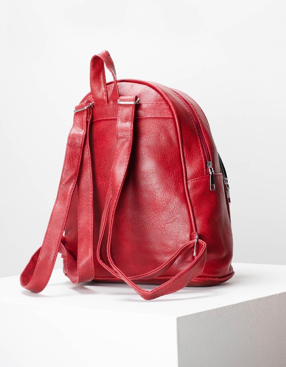 Εικόνα από Γυναικεία σακίδια πλάτης με εξωτερική θήκη Κόκκινο