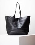 Εικόνα από Γυναικεία τσάντα ώμου σε απλή γραμμή μονόχρωμη Μαύρο