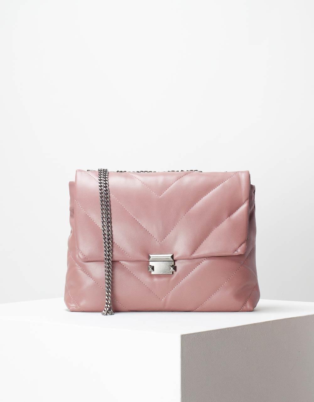 Εικόνα από Γυναικεία τσάντα ώμου & χιαστί με καπάκι Ροζ