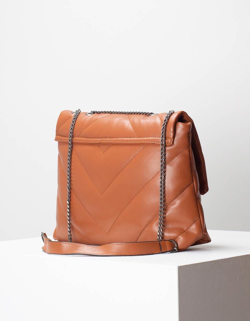 Εικόνα από Γυναικεία τσάντα ώμου & χιαστί με καπάκι Ταμπά