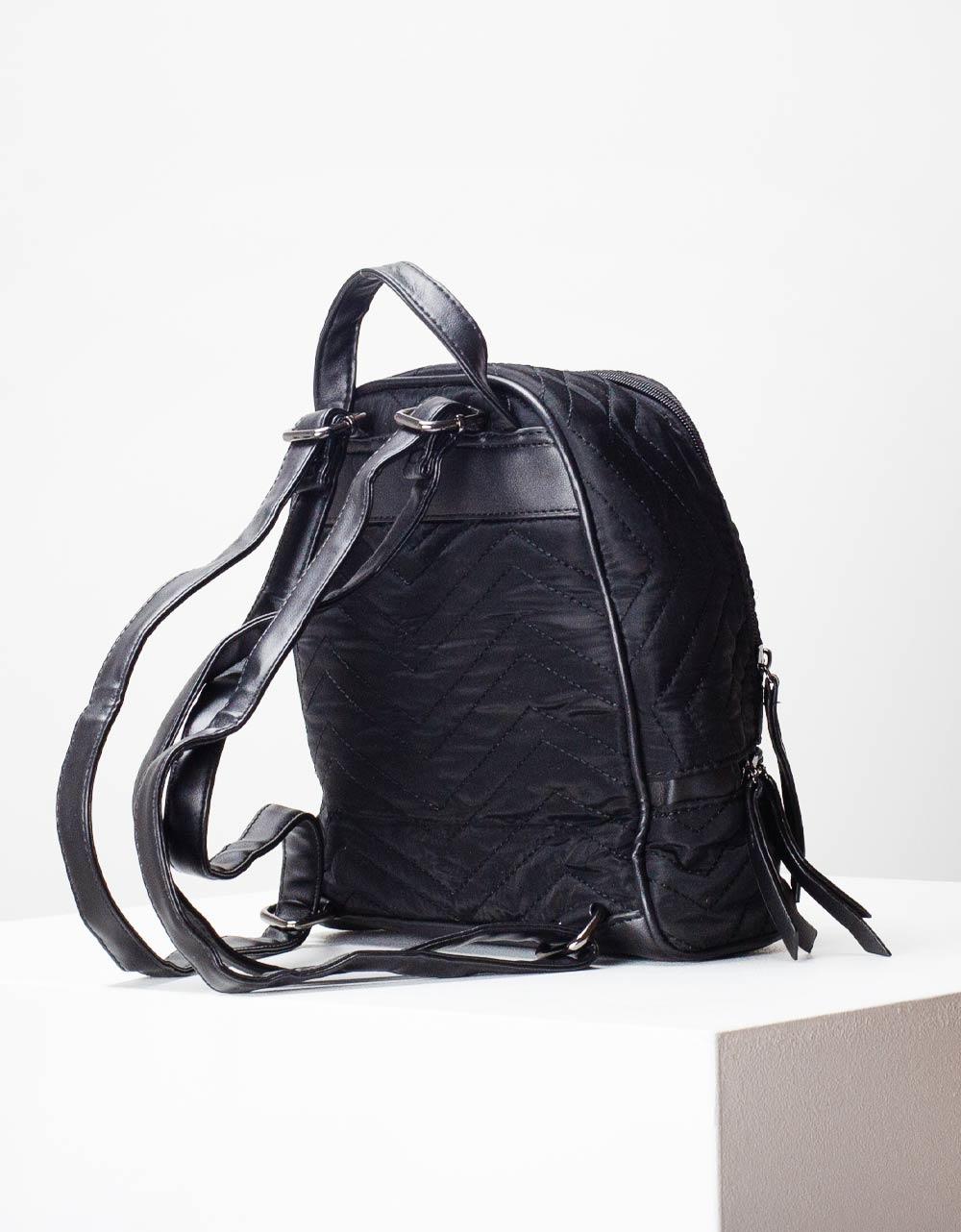 Εικόνα από Γυναικεία σακίδια πλάτης με εξωτερικές ραφές Μαύρο