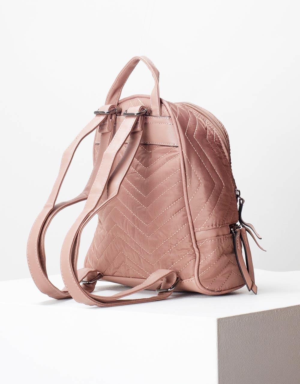 Εικόνα από Γυναικεία σακίδια πλάτης με εξωτερικές ραφές Ροζ