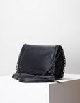 Εικόνα από Γυναικεία τσάντα ώμου & χιαστί με διακοσμητική αλυσίδα Μαύρο