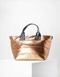 Εικόνα από Γυναικεία τσάντα χειρός μονόχρωμη Μπρονζέ