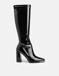 Εικόνα από Γυναικείες μπότες μονόχρωμες λουστρίνι Μαύρο